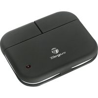Targus Travel USB 2.0 4-Port Hub 480Mbit/s Nero perno e concentratore