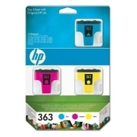 HP 363 Ink Cartridges 3-pack with Vivera Inks Ciano cartuccia d