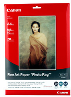 Canon A4 Fine Art Paper Photo Rag (FA-PR1) 20 pack carta fotografica