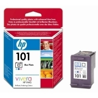 HP 101 Blue Photo Inkjet Print Cartridge with Vivera Inks Ciano chiaro, Magenta chiaro cartuccia d