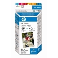 HP 343 Series Photo Starter Pack with Vivera Inks-10 x 15 cm/60 sht