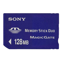 Sony Memory Stick Duo 128MB 0.125GB MS memoria flash