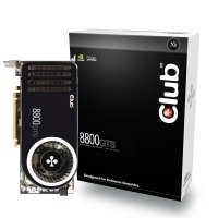 CLUB3D GeForce 8800GTS 640MB DDR3 GeForce 8800 GTS GDDR3