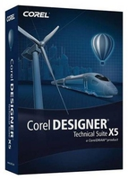 Corel DESIGNER Technical Suite X5, WIN, 251-350u, ENG, DEU, FRE