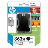 HP 363 Large Black Ink Cartridge with Vivera Ink Nero cartuccia d