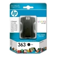 HP 363 Black Ink Cartridge with Vivera Ink Nero cartuccia d