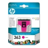 HP 363 Magenta Ink Cartridge with Vivera Ink Magenta cartuccia d