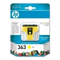 HP 363 Yellow Ink Cartridge with Vivera Ink Giallo cartuccia d
