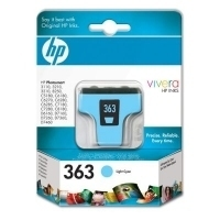 HP 363 Light Cyan Ink Cartridge with Vivera Ink Ciano chiaro cartuccia d