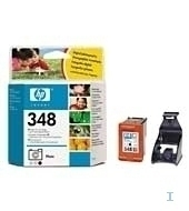HP 348 Photo Inkjet Print Cartridge with Vivera Inks Nero, Ciano chiaro, Magenta chiaro cartuccia d