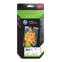 HP 364 Series Photo Value Pack-85 sht/10 x 15 cm Ciano, Giallo cartuccia d