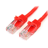StarTech.com 3 ft Red Snagless Category 5e (350 MHz) Crossover UTP Patch Cable 0.91m Rosso cavo di rete