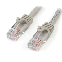 StarTech.com 3 ft Gray Snagless Category 5e (350 MHz) UTP Patch Cable 0.91m Grigio cavo di rete