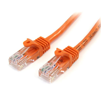 StarTech.com 3 ft Orange Snagless Category 5e (350 MHz) UTP Patch Cable 0.91m Arancione cavo di rete