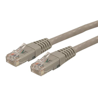 StarTech.com 1 ft Gray Molded Category 6 Patch Cable - ETL Verified 0.3m Grigio cavo di rete