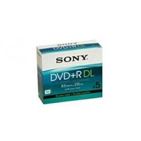Sony DVD+R DL 5Pack 8.5GB DVD+R DL 5pezzo(i)