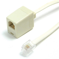 StarTech.com 25 ft. RJ11 Telephone Extension Cable 7.62m Beige cavo telefonico