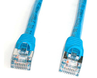 StarTech.com 25 ft Blue Shielded (Snagless) Category 5e (350 MHz) STP Patch Cable 7.62m Blu cavo di rete
