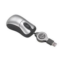 Targus USB OPTICAL RETRACTABLE USB Ottico Argento mouse