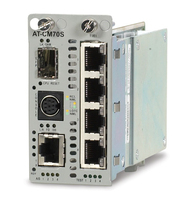Allied Telesis 4 xT1/E1 + 10/100TX over SFP-based fiber line card convertitore multimediale di rete