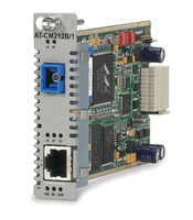 Allied Telesis 10/100TX, 100FX (SC,SM) SMF media & rate converter line card w/ OAM, 15km 100Mbit/s 1550nm convertitore multimediale di rete