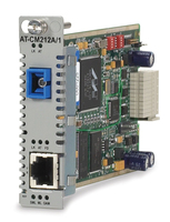 Allied Telesis 10/100TX, 100FX (SC,SM) SMF media & rate converter line card w/ OAM, 15km 100Mbit/s 1310nm convertitore multimediale di rete