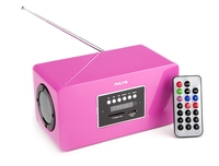 NGS Roomy fucsia Portatile Digitale Rosa radio
