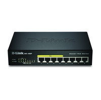 D-Link DGS-1008P/E L2 Supporto Power over Ethernet (PoE) Nero switch di rete
