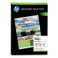 HP 940XL Officejet Brochure Value Pack Ciano, Giallo cartuccia d