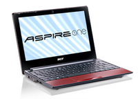 "Acer Aspire One AOD255E-13DQrr 1.66GHz N455 10.1"" 1024 x 600Pixel Rosso Netbook"