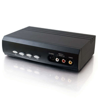 C2G 4x2 S-Video + Composite Video + Stereo Audio Selector Switch commutatore video