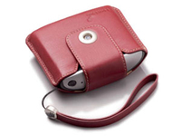 TomTom Leather Carry Case & Strap - Red Rosso