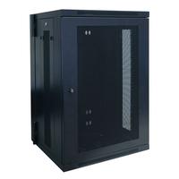 Tripp Lite 18U SmartRack Low-Profile Wall-Mount Rack Enclosure Cabinet, Switch-Depth, Hinged Back