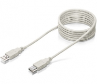 Equip USB 2.0 Connection Cable 5.0m 5m USB A USB A Beige cavo USB