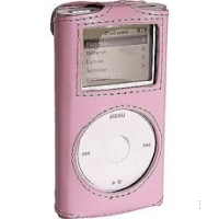Case Logic Leather Case for iPod mini, Pink Rosa