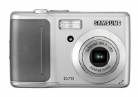 "Samsung Digimax D70 7.2MP 1/2.5"" CCD Argento"