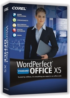 Corel WordPerfect Office X5 Standard, 251-350u, ENG 251 - 350utente(i) Inglese