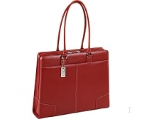 "Targus 15"" Elegant Leather Tote - Red 15"" Ventriquattore da donna Rosso"
