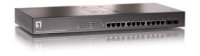 LevelOne 12G + 2SFP L2 SNMP POE Stacking Switch Gestito L2 Supporto Power over Ethernet (PoE) Argento