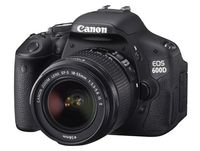 Canon EOS 600D + EF 18-55mm IS + EF 55-250mm IS Kit fotocamere SLR 18MP CMOS 5184 x 3456Pixel Nero