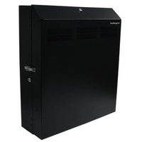 StarTech.com Wall-Mount Server Rack with Dual Fans and Lock - 4U