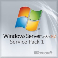 Fujitsu Windows Server 2008 R2 SP1, 10 CAL, 1-8 CPU, OEM, ML