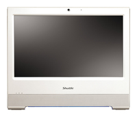 "Shuttle XPC X 5020XA Plus 1.8GHz D525 15.6"" 1366 x 768Pixel Touch screen Bianco PC All-in-one"