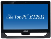 "ASUS EeeTop PC ET2011EGT-B070E 3.2GHz E5800 20"" 1600 x 900Pixel Touch screen Nero All-in-One PC"
