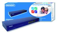 Eminent EM4416 16 Port Networking Switch 10/100Mbps No gestito Blu