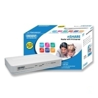 Eminent nSHARE Router with Printserver ADSL router cablato