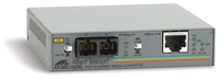 Allied Telesis 100TX to 100FX (SC) standalone media converter, UK power cord 100Mbit/s convertitore multimediale di rete