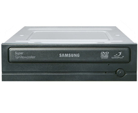 Samsung SpeedPlusT DVD-Writer 20x, Black, Nero Software Interno Nero lettore di disco ottico