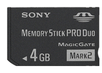 Sony MS-MT4G/TQ 4GB MS Pro Duo Classe 2 memoria flash