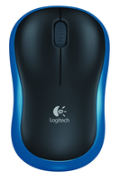 Logitech M185 RF Wireless Ottico Blu mouse